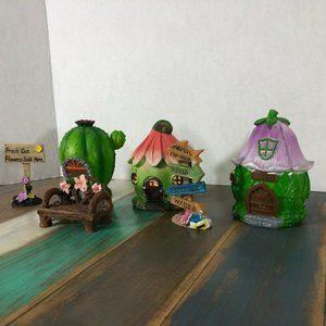 Beachy Hawaiian Fairy Garden Village Houses